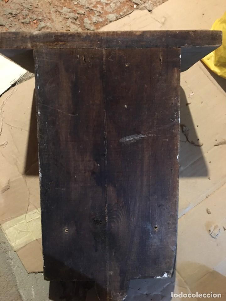 Antigüedades: ESPECTACULAR MÉNSULA ANTIGUA DE MADERA MACIZA + DE 3 KG. - Foto 4 - 51802095