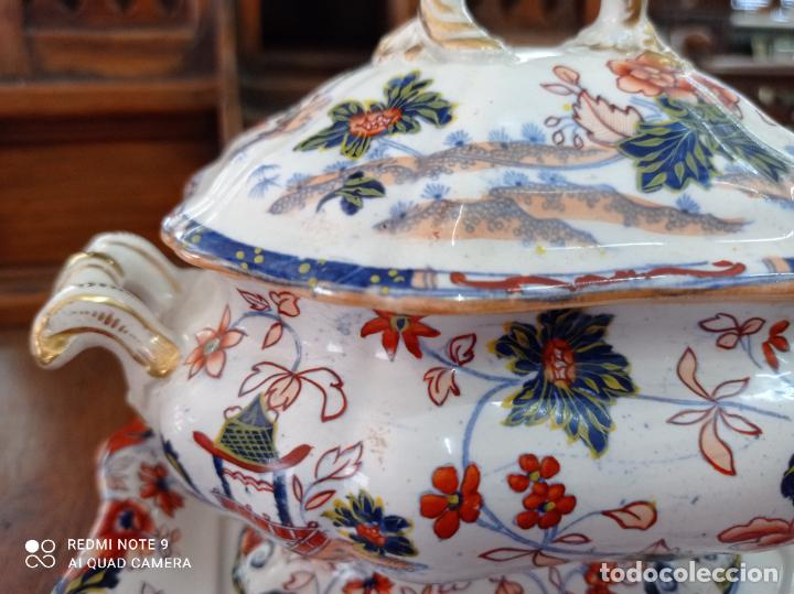 Antigüedades: PRECIOSA Y ANTIGUA SOPERA JAPONESA PORCELANA AMHERST. IMARI.VER FOTOS. EL COLORIDO ES IMPRESIONANTE - Foto 4 - 231255230