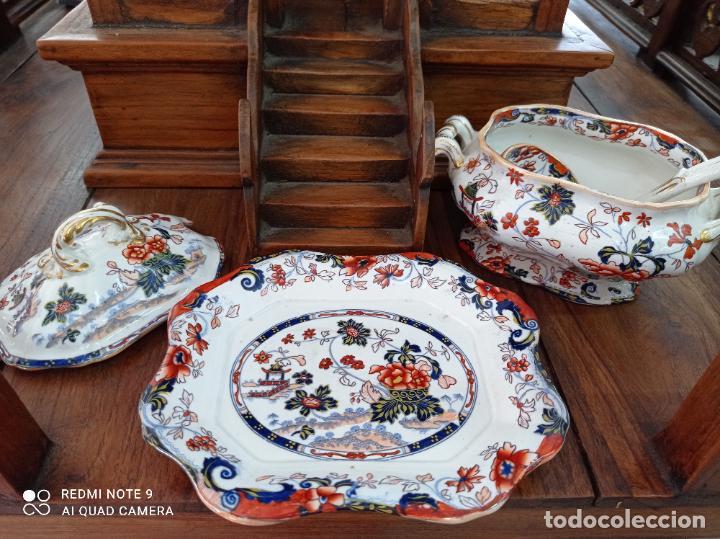 Antigüedades: PRECIOSA Y ANTIGUA SOPERA JAPONESA PORCELANA AMHERST. IMARI.VER FOTOS. EL COLORIDO ES IMPRESIONANTE - Foto 8 - 231255230