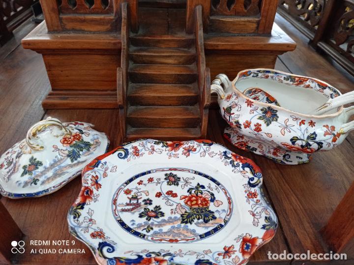 Antigüedades: PRECIOSA Y ANTIGUA SOPERA JAPONESA PORCELANA AMHERST. IMARI.VER FOTOS. EL COLORIDO ES IMPRESIONANTE - Foto 9 - 231255230