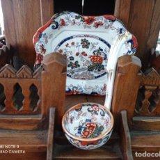Antigüedades: PRECIOSA Y ANTIGUA SOPERA JAPONESA PORCELANA AMHERST. IMARI.VER FOTOS. EL COLORIDO ES IMPRESIONANTE. Lote 231255230