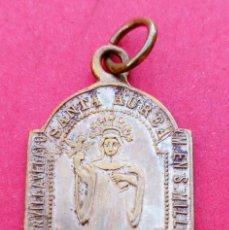 Antigüedades: MEDALLA SIGLO XIX SANTA AUREA VILLAVELAYO VIRGEN VALVANERA. RIOJA. MUY RARA.. Lote 231264575