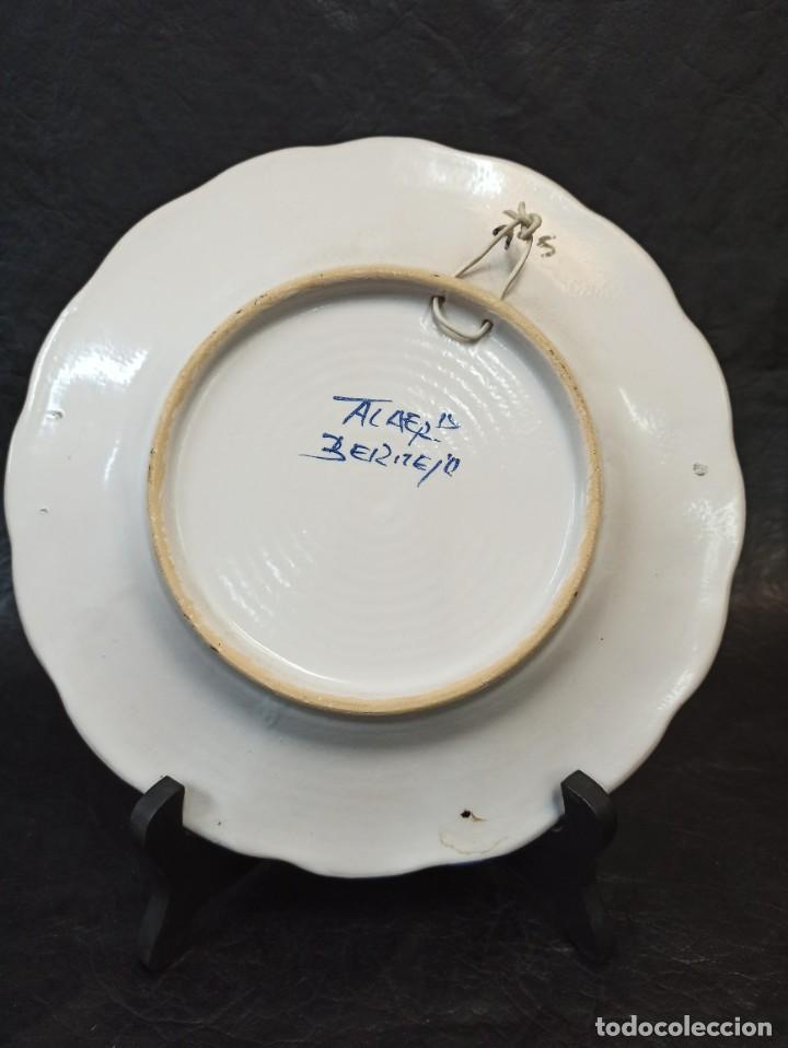 Antigüedades: Precioso plato cerámica Talavera. Bermejo. C19. - Foto 3 - 231291665