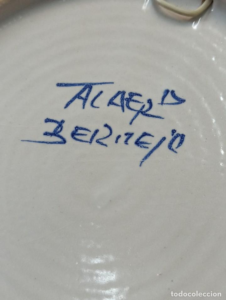 Antigüedades: Precioso plato cerámica Talavera. Bermejo. C19. - Foto 4 - 231291665