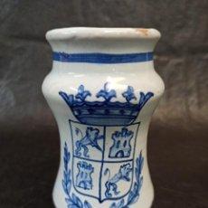 Antigüedades: ALBARELO CERÁMICA TALAVERA. HERÁLDICA. AL. Lote 231297520