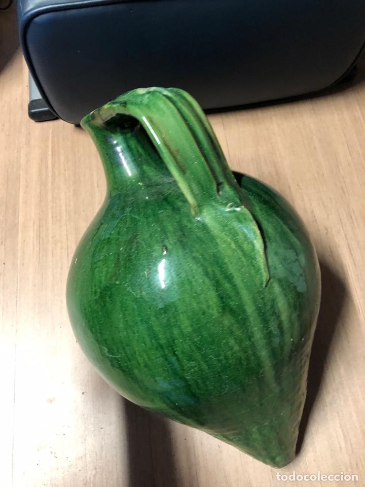 Antigüedades: Cántaro de ceramica VERDE con sello de TITO ÚBEDA 52cm - Foto 2 - 231314605
