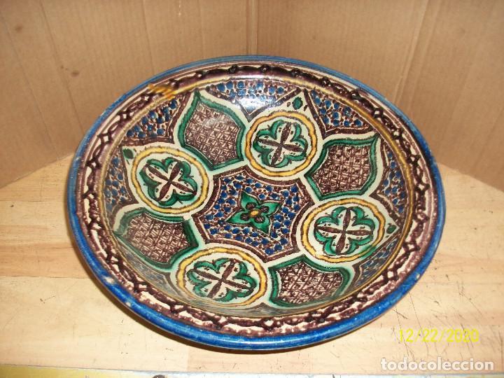 ANTIGUO CUENCO DE CERAMICA ARABE (Antigüedades - Porcelanas y Cerámicas - Fajalauza)
