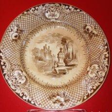 Antigüedades: PLATO PICKMAN - DE PRIMERA EPOCA - SELLO ANCLA INCISA - S. XIX - MUY LIGERO -. Lote 231342015