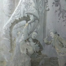Antigüedades: PRECIOSO CUADRO TAPIZ SEDA ,ESCENA PALACIEGA ,SIGLO XIX PRINCIPIOS DE SIGLO XX. Lote 231365305
