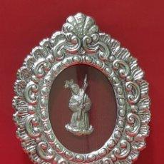 Antigüedades: NAZARENO. RELICARIO DE CHAPA PLATEADA.. Lote 231368085