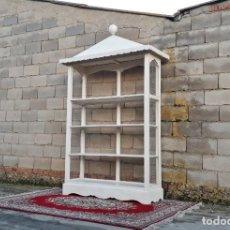 Antigüedades: APARADOR MUEBLE DE SALÓN COMEDOR LIBRERO ANTIGUO VINTAGE ESTANTERÍA LIBRERÍA ALACENA ANTIGUA REJILLA. Lote 231412595