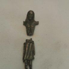 Antigüedades: ANTIGUO CRISTO DE METAL. Lote 231447835