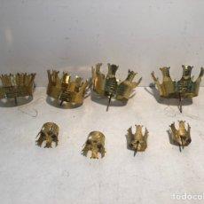 Antigüedades: LOTE DE OCHO CORONAS DE CABEZA DE LATON PARA IMAGENES RELIGIOSAS.. Lote 231484325