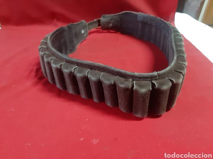 Antigüedades: Cinturón canana en cuero para cartuchos de caza - Foto 6 - 231504585