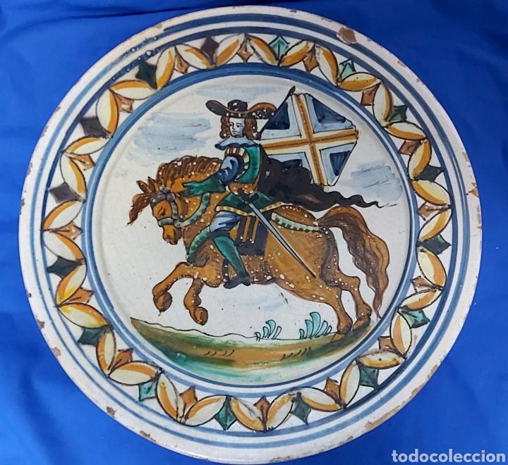 PLATO CERÁMICA CATALANA S.XVIII (Antigüedades - Porcelanas y Cerámicas - Catalana)