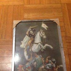 Antigüedades: ANTIGUO CUADRO ,MARCO DE ESPEJO, DE SANTIAGO APOSTOL.. Lote 231565110