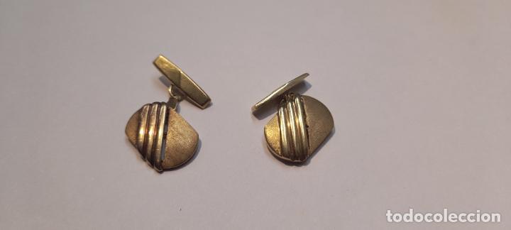 Antigüedades: Antiguos Gemelos de oro amarillo - 18 kilates contrastados - 5.8gr - Foto 2 - 231612750