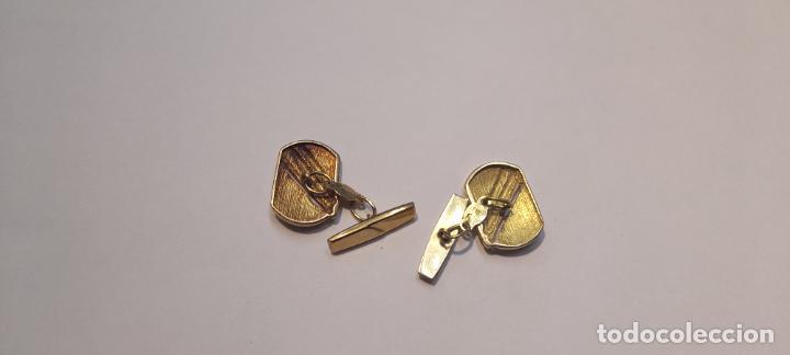 Antigüedades: Antiguos Gemelos de oro amarillo - 18 kilates contrastados - 5.8gr - Foto 3 - 231612750