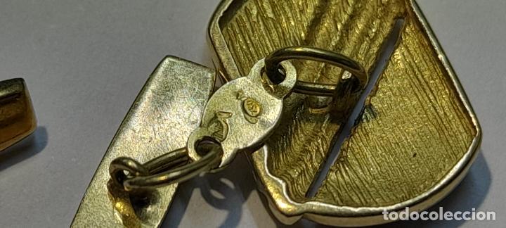 Antigüedades: Antiguos Gemelos de oro amarillo - 18 kilates contrastados - 5.8gr - Foto 4 - 231612750