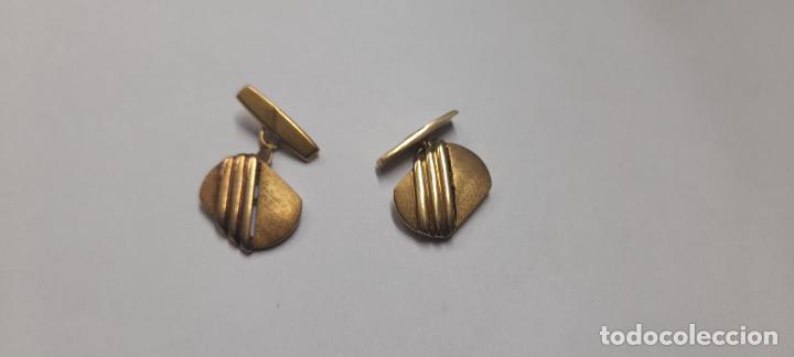 ANTIGUOS GEMELOS DE ORO AMARILLO - 18 KILATES CONTRASTADOS - 5.8GR (Antigüedades - Moda - Gemelos Antiguos)