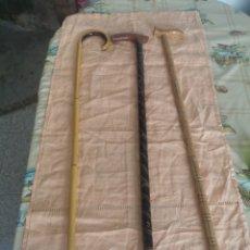 Antigüedades: LOTE DE 3 BASTONES. Lote 231649540
