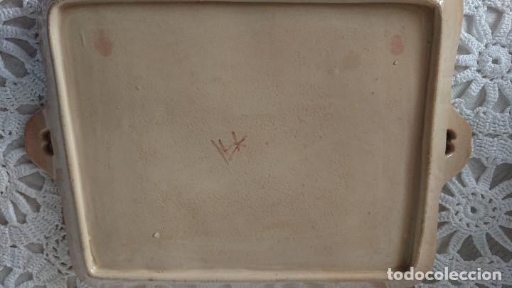 Antigüedades: FUENTE BANDEJA ALCORA, CERÁMICA - Foto 8 - 231843880