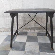 Antigüedades: ANTIGUA MESA DE SAN ANTONIO MADERA DE NOGAL. Lote 231870505