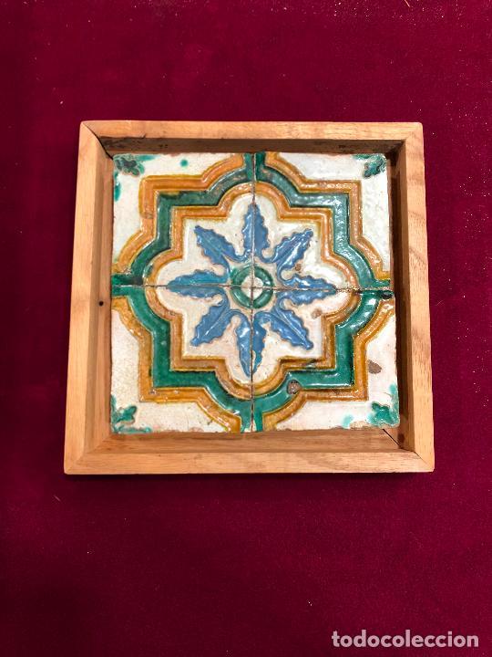 AZULEJO DE TRIANA ENMARCADO (Antigüedades - Porcelanas y Cerámicas - Triana)
