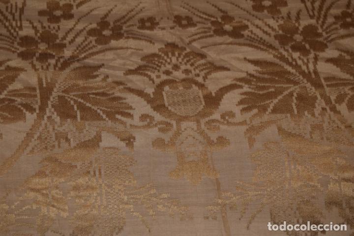 Antigüedades: mantón de seda indumentaria - Foto 2 - 231920695