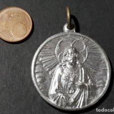 Antiguidades: MEDALLA ANTIGUA CORAZÓN DE JESÚS Y VIRGEN DEL PERPETUO SOCORRO. Lote 246752555