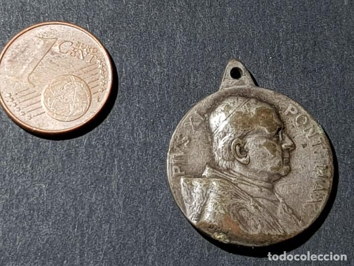MEDALLA DE PIVS XI Y MARÍA INMACULADA (Antigüedades - Religiosas - Medallas Antiguas)