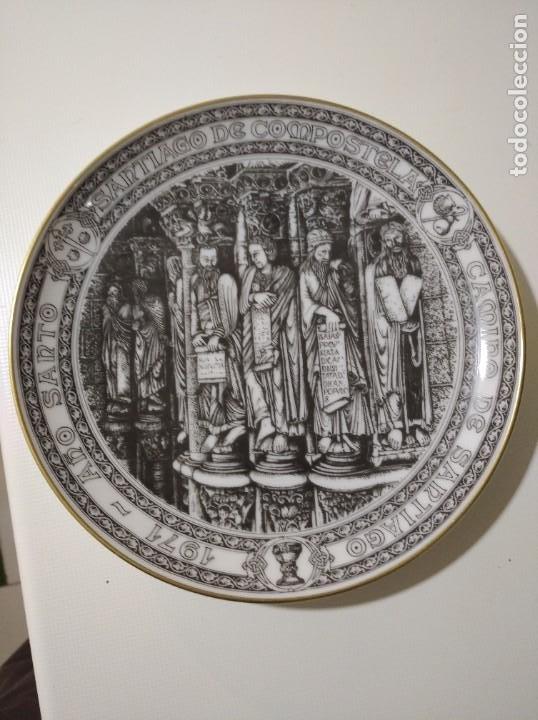 SANTA CLARA, BONITO PLATO AÑO SANTO SANTIAGO DE COMPOSTELA 1971 (Antigüedades - Porcelanas y Cerámicas - Santa Clara)