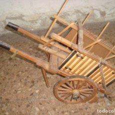 Antigüedades: BONITO CARRO DE TRANSPORTE AGRICOLA , REALIZADO A MANO , ARTE POPULAR. Lote 232142595