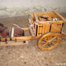 Antigüedades: PRECIOSO CARRO DE TRANSPORTE AGRICOLA , REALIZADO A MANO , ARTE POPULAR. Lote 232142945