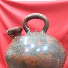 Antigüedades: TERRISSA CATALANA DESAPARECIDA. GRAN CÀNTIR D' OLI.. Lote 232180415