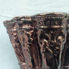 Antigüedades: ANTIGUA MACETA DE CERÁMICA DE REFLEJOS. (TRIANA, SEVILLA 1.910). Lote 232224650