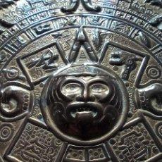 Antigüedades: PLATO DE LATÓN HECHO EN MÉXICO. Lote 232225450