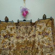 Antigüedades: MANTEL U OTROS USOS, BORDADO EN HILOS SEDA. Lote 232236780