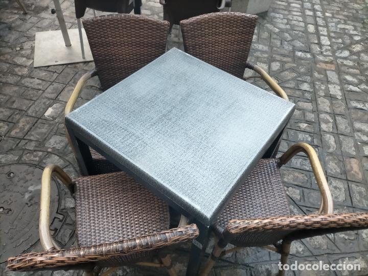 Antigüedades: SOLO RECOGIDA CADIZ CAPITAL CENTRO 24 sillas y 6 mesas de terraza BAR RESTAURANTE - Foto 23 - 229701075