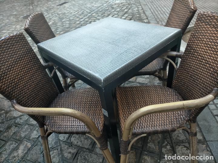 Antigüedades: SOLO RECOGIDA CADIZ CAPITAL CENTRO 24 sillas y 6 mesas de terraza BAR RESTAURANTE - Foto 26 - 229701075