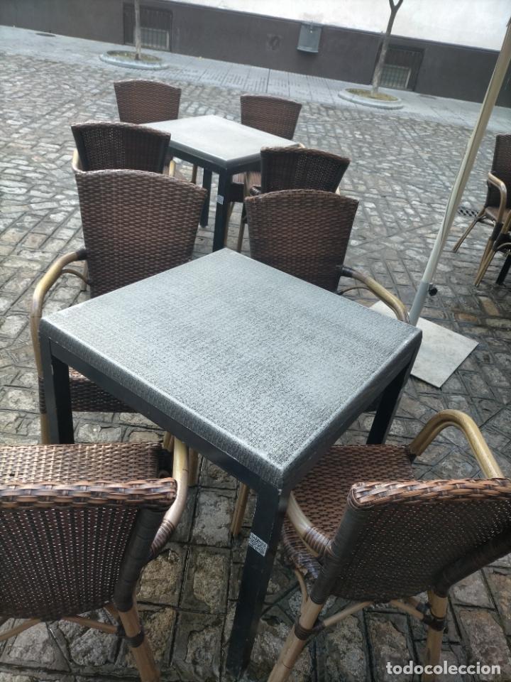 Antigüedades: SOLO RECOGIDA CADIZ CAPITAL CENTRO 24 sillas y 6 mesas de terraza BAR RESTAURANTE - Foto 41 - 229701075