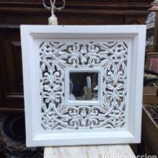 Antigüedades: ESPEJO DE MARCO DE MADERA. Lote 232285440