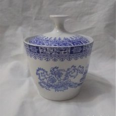 Antigüedades: AZUCARERO PORCELANA PONTESA CHINA BLAU. SELLO EN LA BASE. Lote 232295985