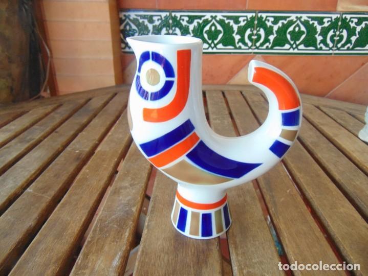 FIGURA EN PORCELANA CERÁMICA JARRA GALLO DE SARGADELOS (Antigüedades - Porcelanas y Cerámicas - Sargadelos)