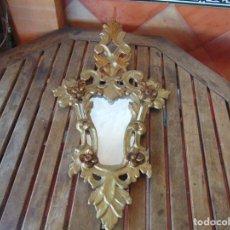 Antigüedades: CORNUCOPIA CORNUCOPIAS EN MADERA DORADA Y CRISTAL NECESITA RESTAURACIÓN. Lote 232304250