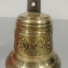 Antigüedades: CAMPANA REPUJADA DE BRONCE. Lote 232322335