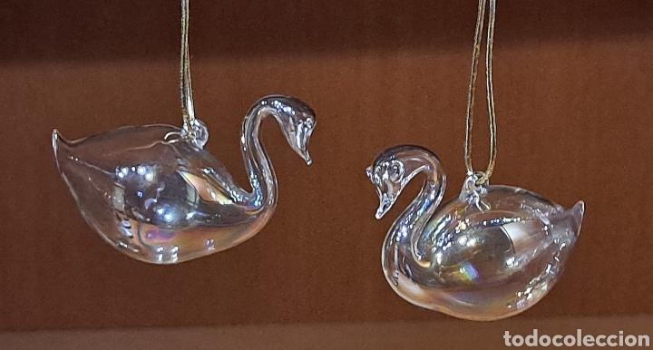 Antigüedades: Dos Cisnes de cristal - Foto 4 - 232344065