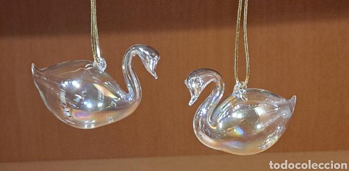Antigüedades: Dos Cisnes de cristal - Foto 2 - 232344065
