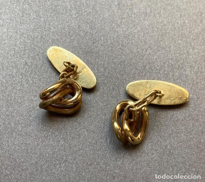 Antigüedades: Gemelos Chapado Oro, Nudo - Foto 2 - 232345185