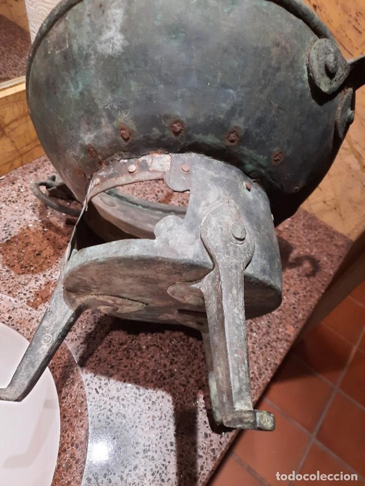 Antigüedades: ASADOR O TOSTADOR MUY ANTIGUO - Foto 3 - 27577920